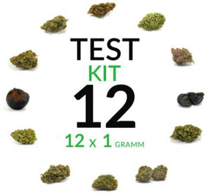 cannabis kit test 12 grams cbd flower