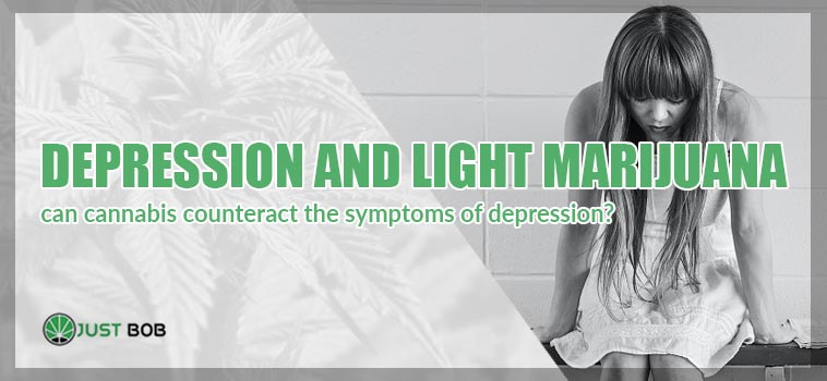depression and light marijuana article cover