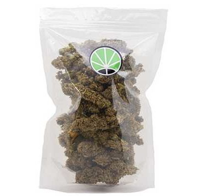 Packaging of White Widow from CBD flower shop