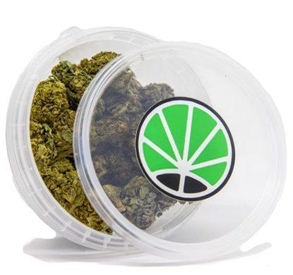 Packaging of Lemon Cheese CBD marijuana Flowers