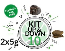 Test Kit Up&Down for 10 grams legal hash online of 2 Varieties