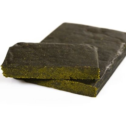 Two slices of CBD Hash Gorilla Glue #4