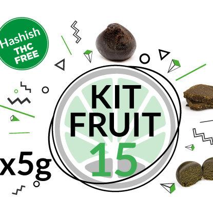 Test Kit FRUIT HASH for 15 grams CBD hash online of 3 Varieties