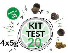 Test kit of 4 varieies of CBD Hash 5 grams