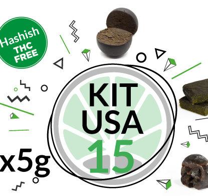 Test 3 hashish with 15 grams of CBD hash KIT USA