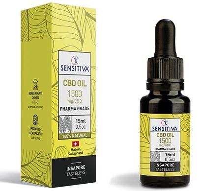 Bottle and pack 15 ml of CBD Oil 10% - Sensitiva