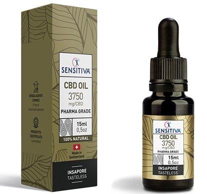 Bottle and pack 15 ml of CBD Oil 25% - Sensitiva