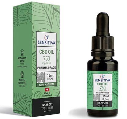 Bottle and pack 15 ml of CBD Oil 5% - Sensitiva