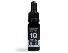 Bottle of CBD Oil 10 ml 10% - Sativa