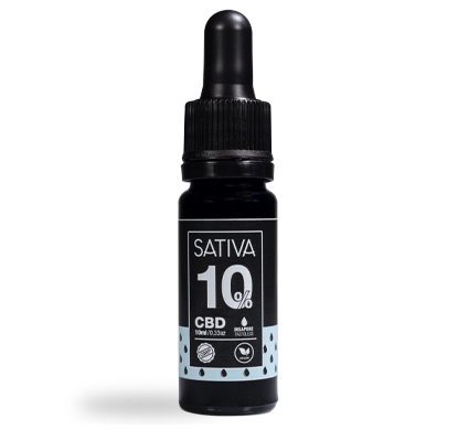 Bottle of CBD Oil 10 ml 10% - Sativa