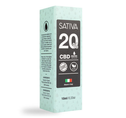 Package of CBD Oil 10 ml 20% - Sativa