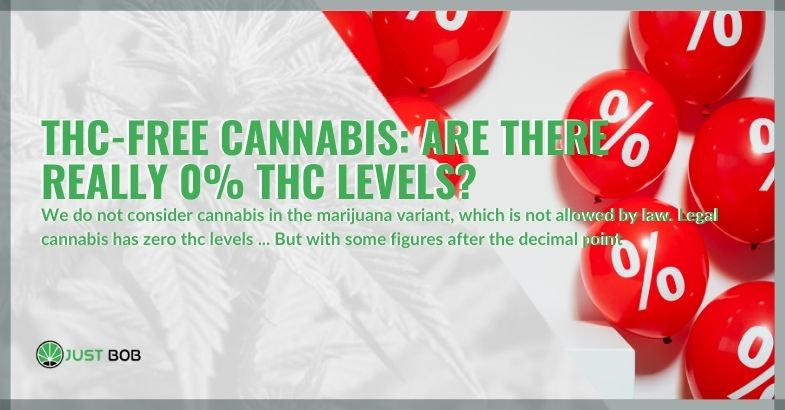 THC-free cannabis: are there really 0% THC levels?