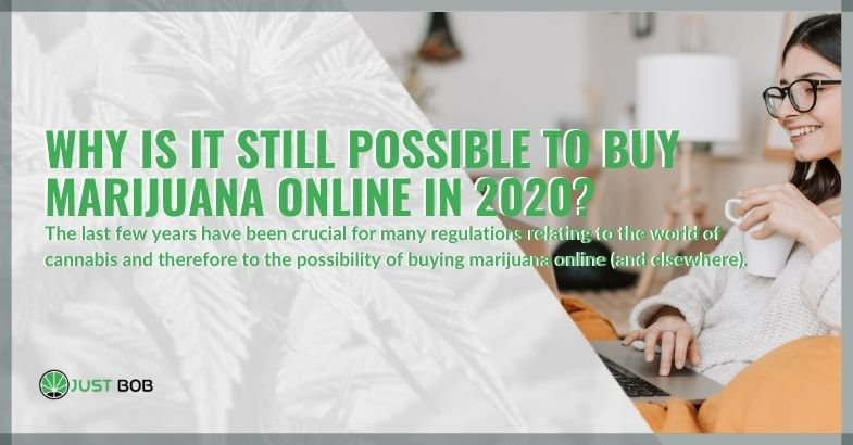 Why is it still possible to buy marijuana online in 2020?