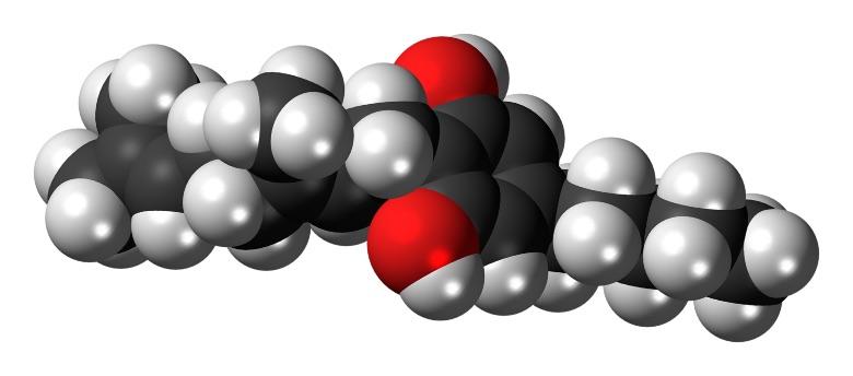 cannabigerol molecule present in Zkittles CBG
