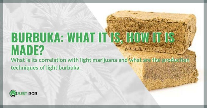 What is the correlation of burbuka with light marijuana?