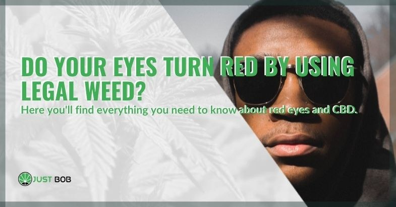 Correlation between red eyes and CBD