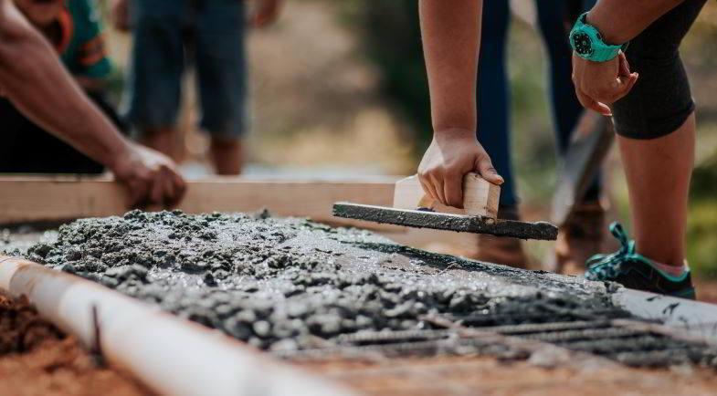Hemp in construction: use of concrete.