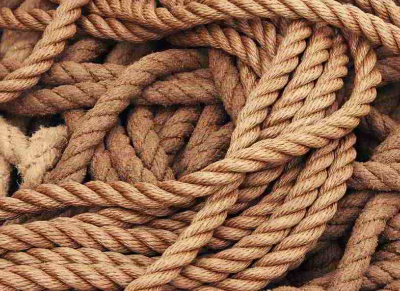 Hemp in the textile sector to make ropes